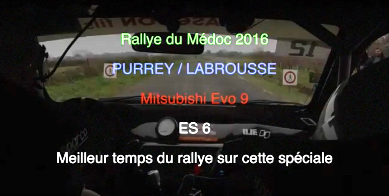 on board purrey labrousse rallye medoc 2016 pilote de course. Black Bedroom Furniture Sets. Home Design Ideas