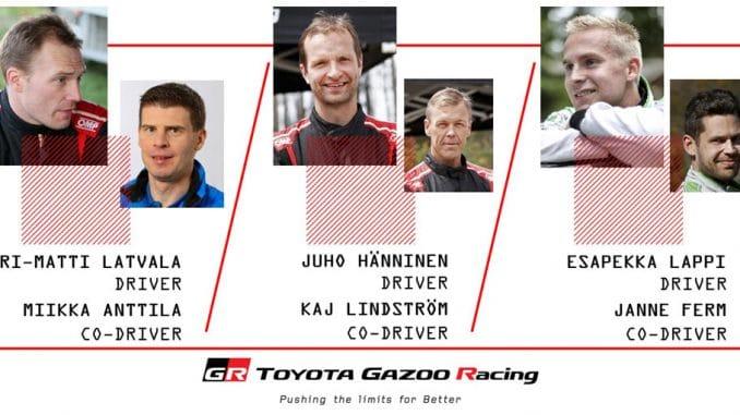 Pilotes Toyota WRC 2017