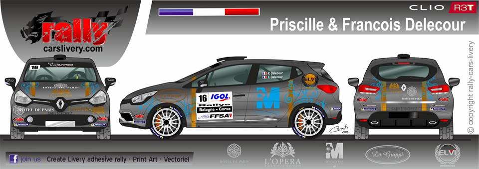 Renault Clio R3 T - Priscille & Francois Delecour - Rallye Balagne 2016