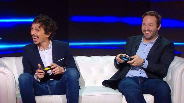 Arnaud Tsamere et Julien Febreau lors d'une émission sur Canal+. (c) : DR