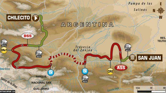 Dakar 2017 Etape 10 : la Carte. (c) : ASO
