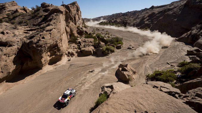 Dakar 2017 Etape 10 : Seb Loeb aura tout tenté en fin de spéciale. (c) : DR