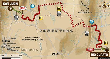 Dakar 2017 Etape 11 : la carte. (c) : DR