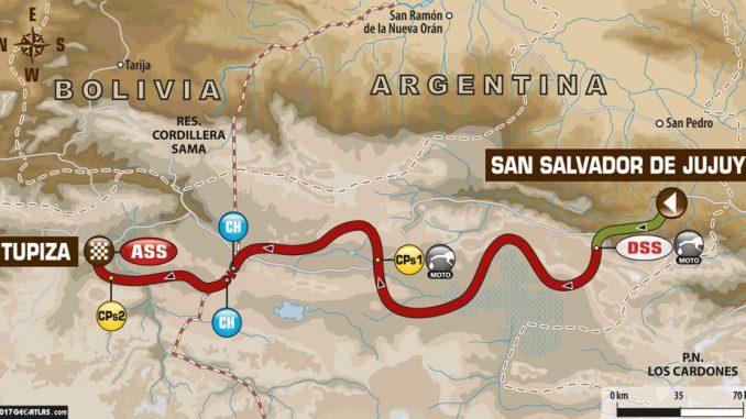 Dakar 2017 Etape 4 la carte