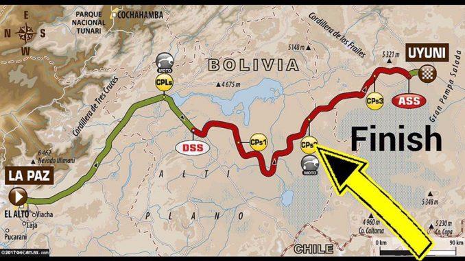 Dakar 2017 Etape 7 : la carte. (c) : ASO