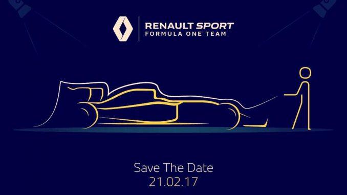 Date de sortie des nouvelles F1 2017. (c) : Renault Sport