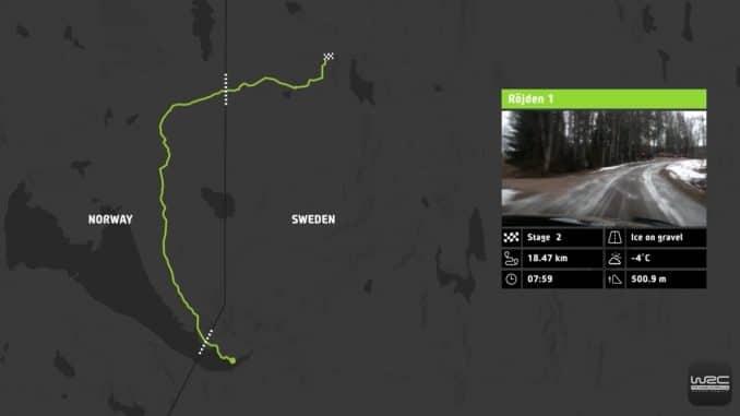 Vidéo parcours Rallye Suède 2017. (c) : WRC