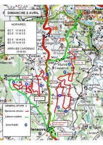 Carte Terre des Causses 2017 ETAPE 2