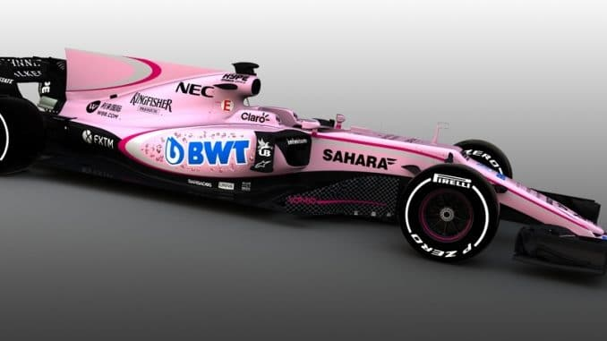 F1 2017 : la Force India 2017. (c) : DR