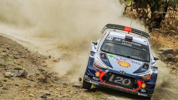 Thierry Neuville (Hyundai i20 WRC) à l'attaque. (c) : DR