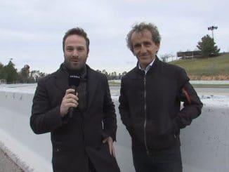 Julien Febreau et Alain Prost. Julien Febreau en Cio R3T