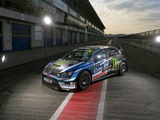Petter Solberg présente sa Polo GTI WRX. (c) : DR