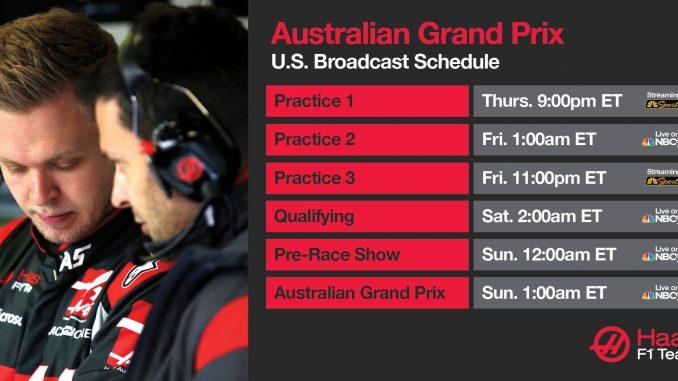 Programme TV GP d'Australie 2017
