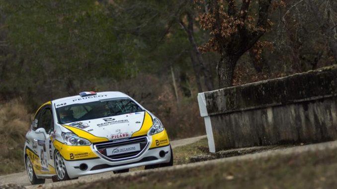 Quentin Ribaud a parfaitement préparé sa saison en 208 Rally Cup. (c) : Bastien Roux