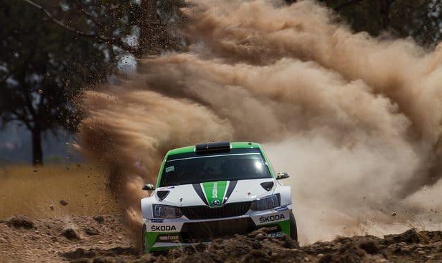 Shakedown Rallye du Mexique 2017. Pontus Tidemand sur Skoda Fabia R5. (c) : DR