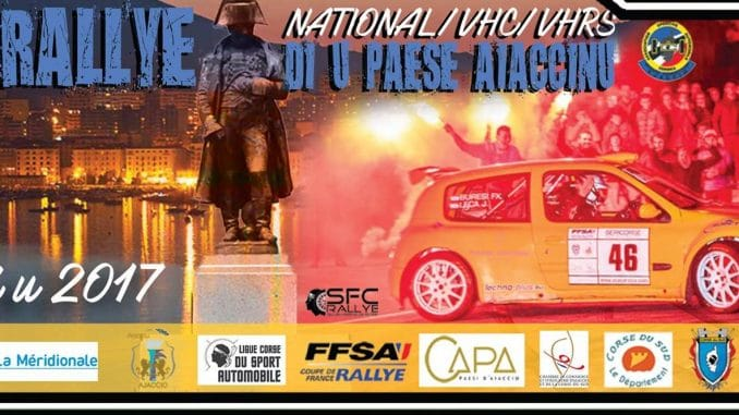 Liste des engagés Rallye du Pays Ajaccien 2017