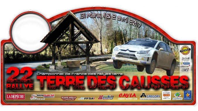 La plaque du Rallye Terre des Causses 2017. (c) : DR