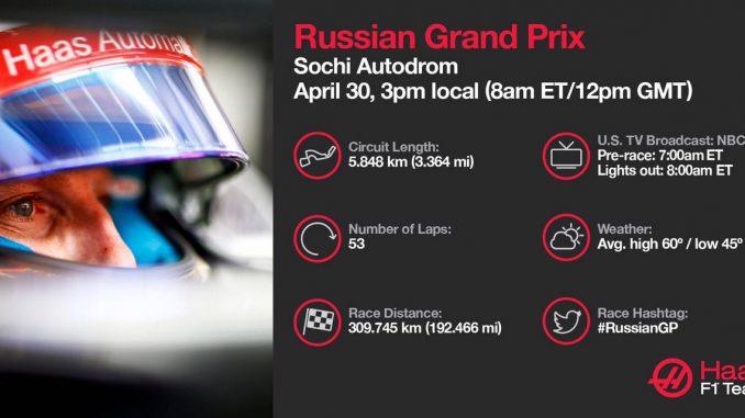 Programme TV GP de Russie 2017. (c) : Haas F1