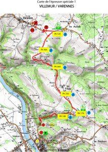 Rallye du Frontonnais 2017 - Carte ES1