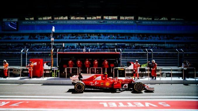 Vettel et Ferrari en Pole en Russie. (c) : Ferrari