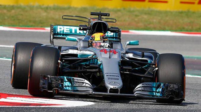 Classement GP d'Espagne 2017. Hamilton encore. (c) : Mercedes