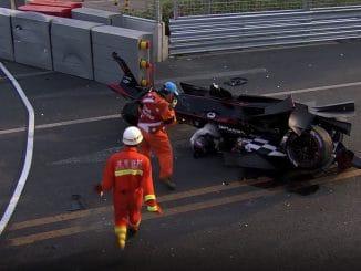 Premier Crash de l'histoire en Formule E