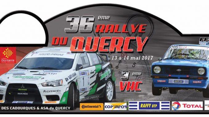 Liste des engagés Rallye du Quercy 2017