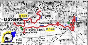 Carte Rallye du Sidobre 2017. (c) : Rallye du Sidobre