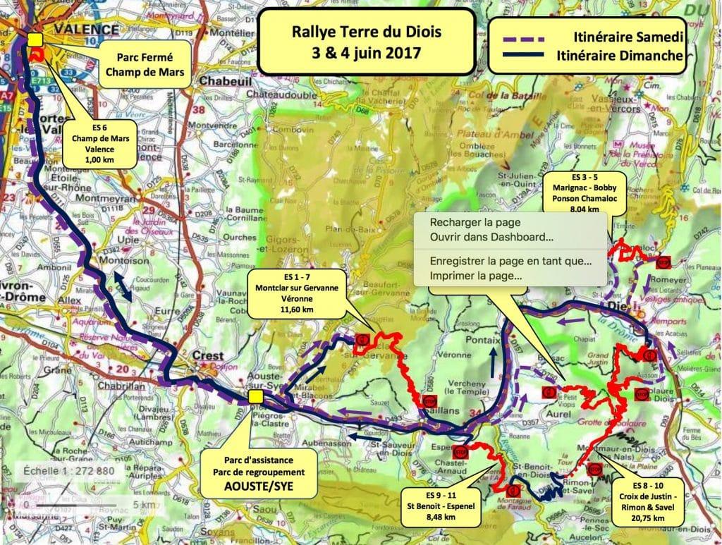 Cartes Rallye Terre du Diois 2017