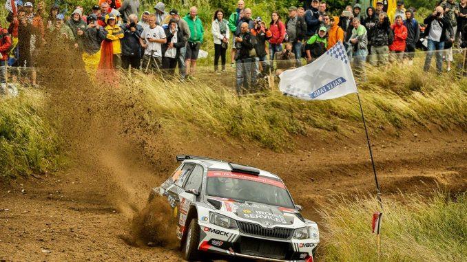 Quentin Gilbert est troisième du WRC2 au soir du premier jour. (c) : DR