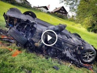 Hammond détruit une auto à 750 000 €