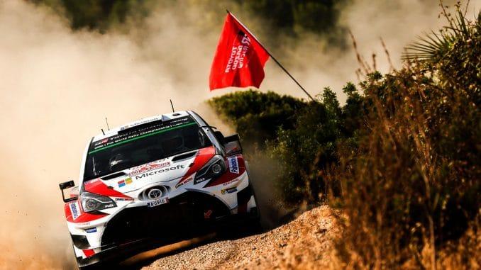 Rallye Sardaigne 2017 (ES1 à ES5) : Premier temps scratch en carrière pour Lappi en WRC. (c) : DR