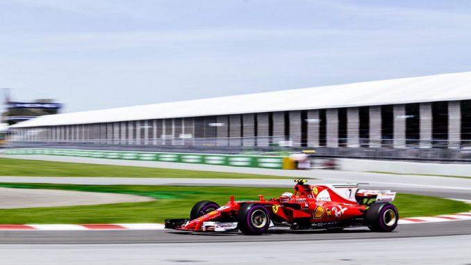 Raikkonen n'aura pas sauvé les meubles chez Ferrari, il termine septième en raison de problèmes mécaniques.  F1 - GP du Canada 2017 : Hamilton imperial