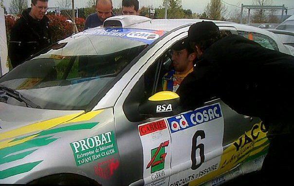 Paulu-Battistu Halter a 22 ans lorsqu'il pilote une 206 WRC. (c) : DR