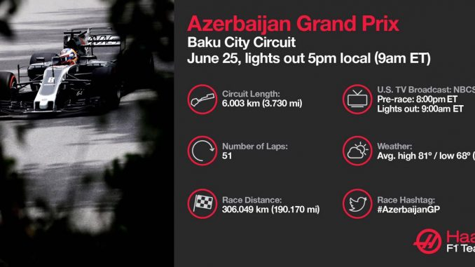 Programme TV GPAzerbaïdjan 2017