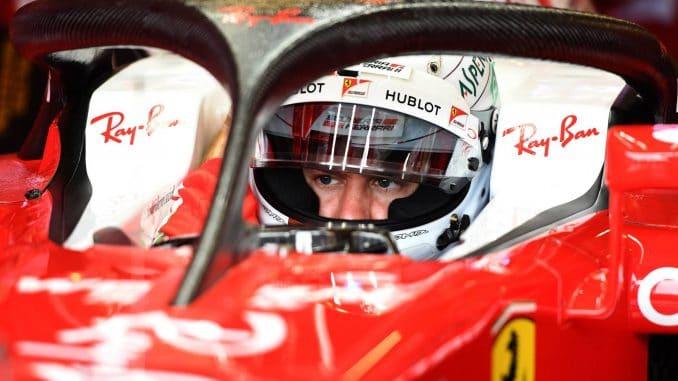 F1 2017 : Welcome to Silverstone !Après le Halo en 2016, Vettel s'apprête a faire ses premiers tours de roues avec le bouclier.