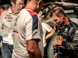 Abandon pour Sébastien Loeb sur le Silk Way Rally. (c) : PEUGEOT Sport