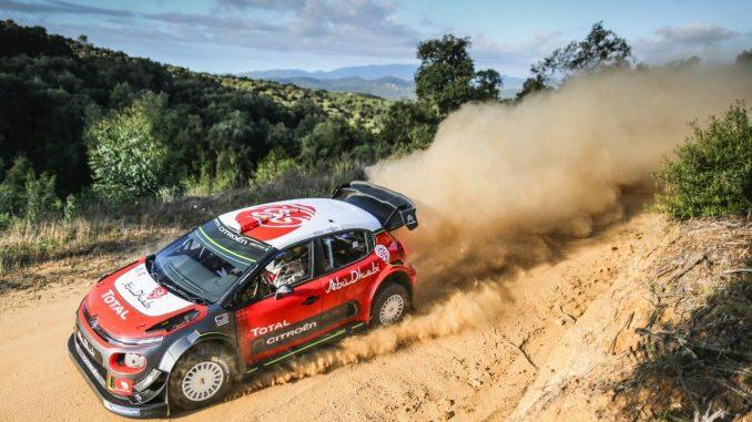 Loeb essaie la C3 WRC sur terre