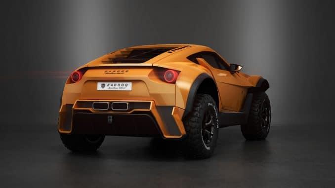 Zarooq Sandracer 500 GT supercar du désert