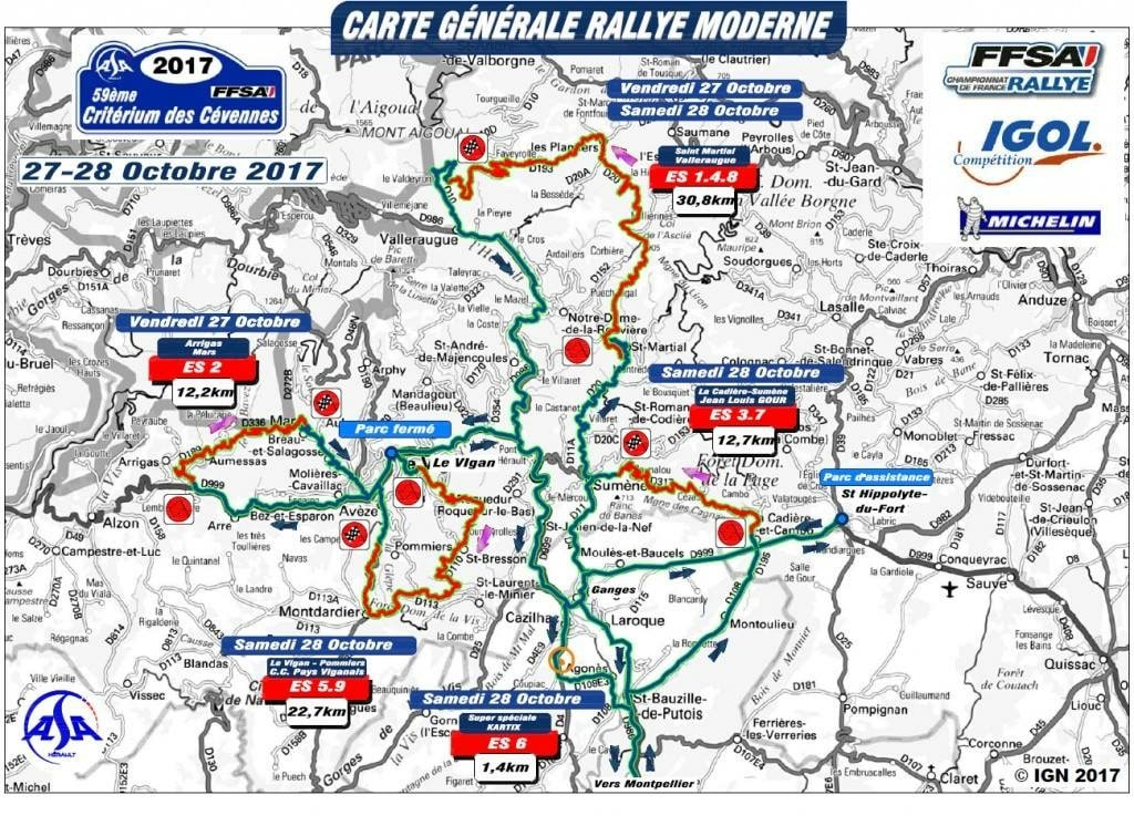 parcours et programme crit rium des c vennes 2017 pilote de course. Black Bedroom Furniture Sets. Home Design Ideas