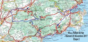 Carte Rallye du Var 2017 Samedi