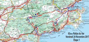 Carte Rallye du Var 2017 Vendredi