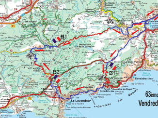 Parcours et Programme Rallye du Var 2017. Carte Rallye du Var 2017 Vendredi