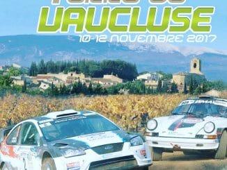 Programme et parcours Rallye Terre de Vaucluse 2017