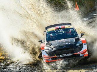 Combien coute une WRC ? Ici la Ford Fiesta WRC 2017 de Mads Ostberg. Photo (c) : Adapta Motorsport