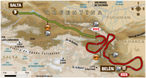 Carte Etape 10 Dakar 2018