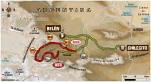 Carte Etape 11 Dakar 2018