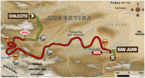 Carte Etape 12 Dakar 2018