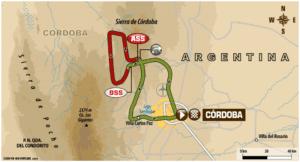 Carte Etape 14 Dakar 2018