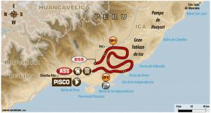 Carte Etape 2 Dakar 2018